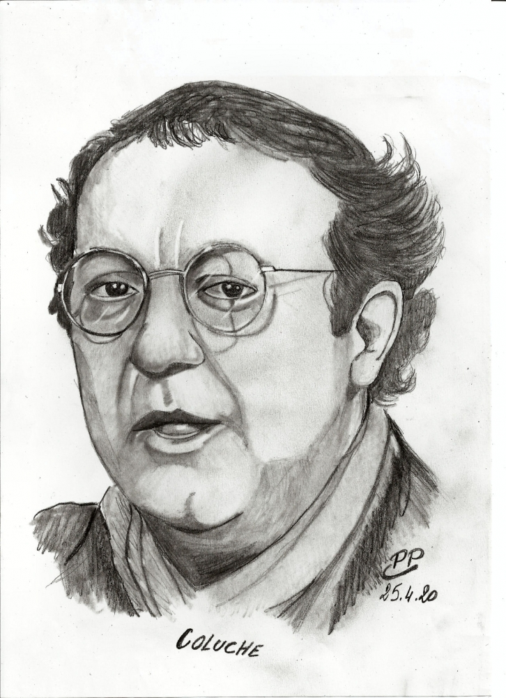 Coluche by Patoux